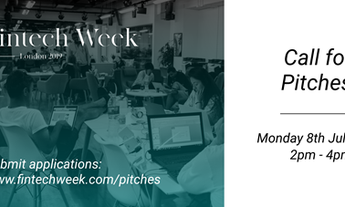 London FinTech Week launches its Pitch Competition