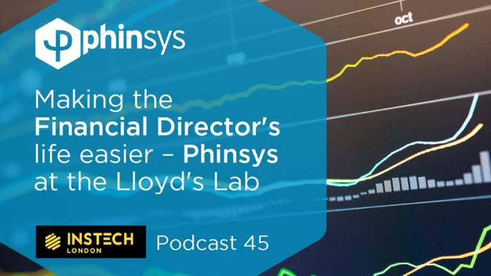 Making the Financial Director's life easier - Phinsys at the Lloyd's Lab