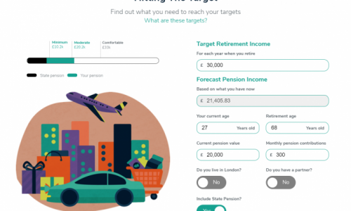 Our new retirement tool will help users imagine their future