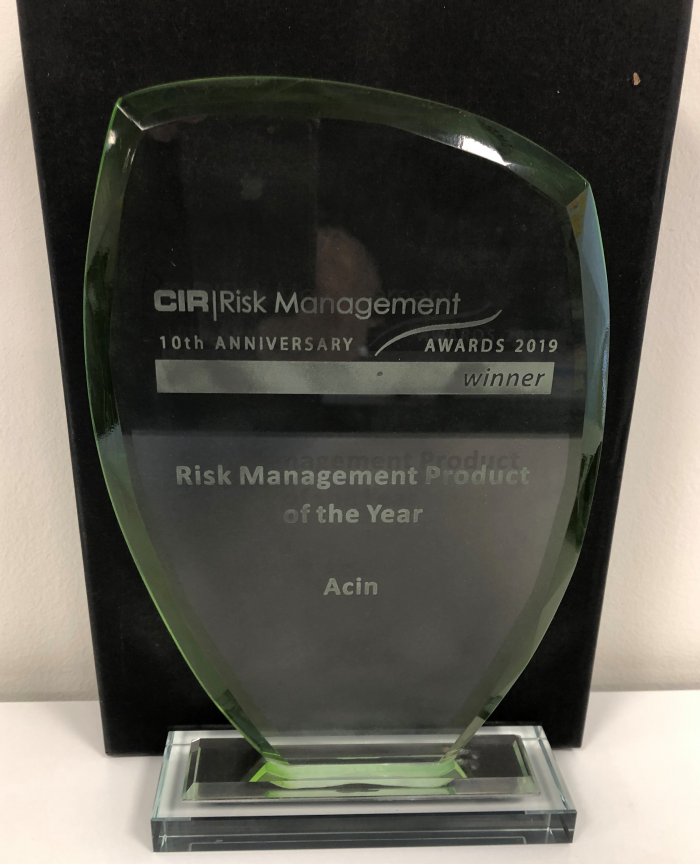 Acin wins Risk Management Product of the Year at the CIR Risk Management Awards