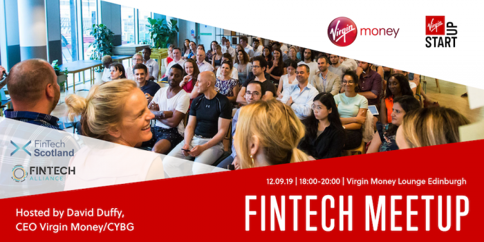 FinTech Alliance Community Gathering with CYBG CEO David Duffy and the Virgin Money Team