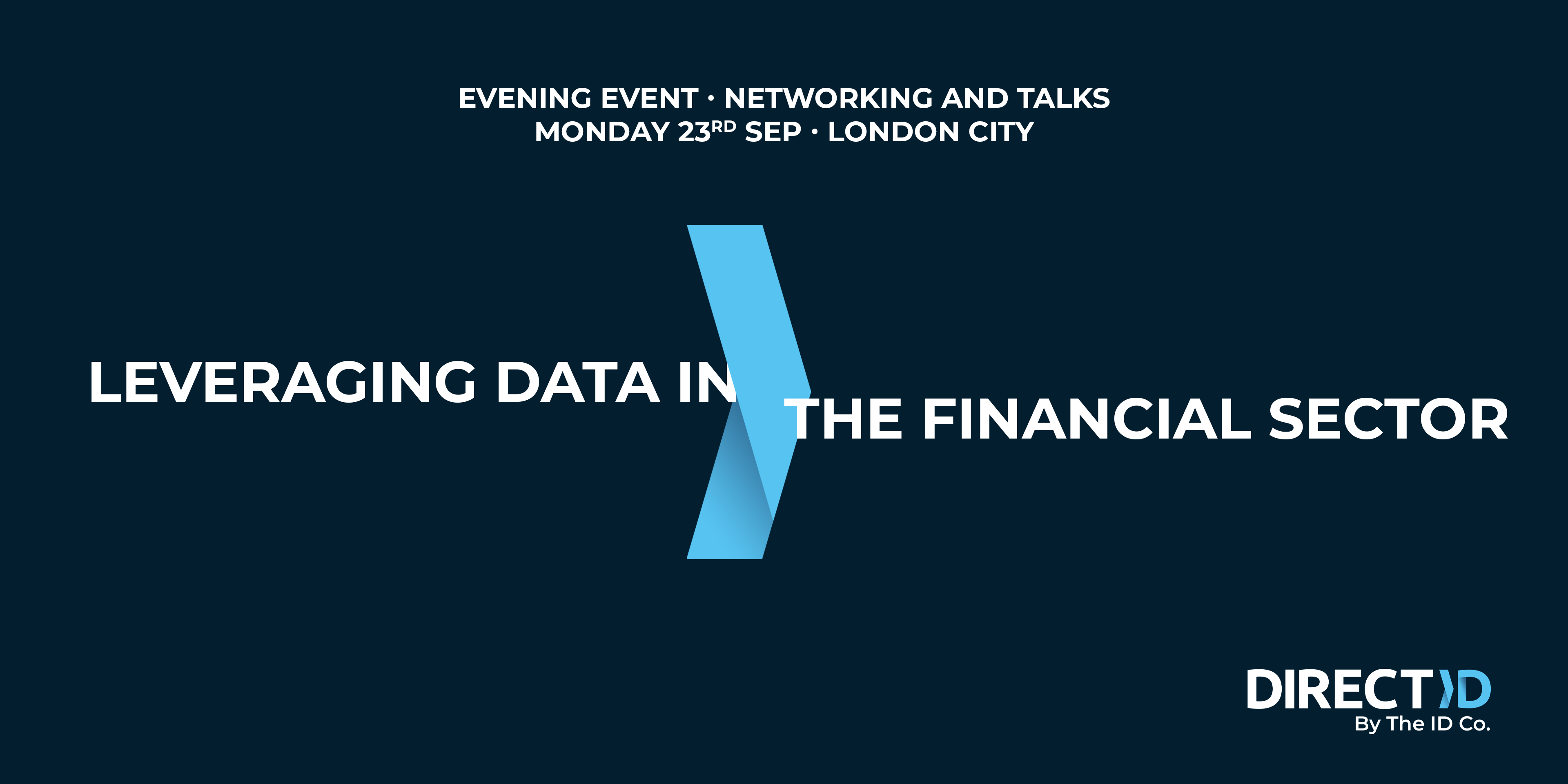 Leveraging Data in The Financial Sector - Networking and Talks