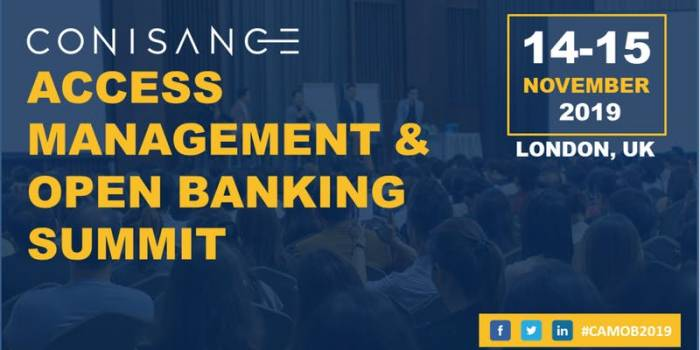 Conisance Access Management and Open Banking Summit 2019