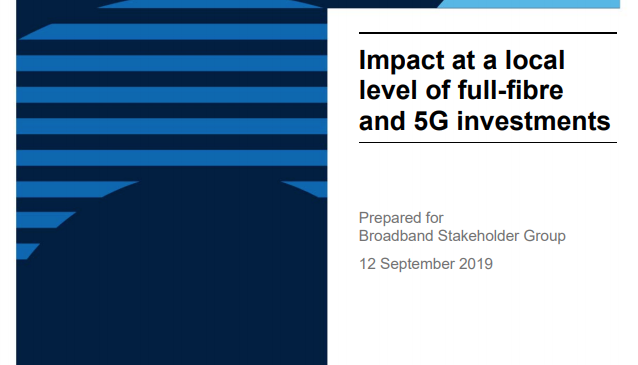 BSG: Impact at a local level of full-fibre and 5G investments