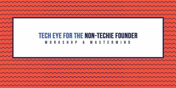 Tech Eye for the Non-Techie Founder (workshop & mastermind)